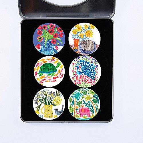 Schneidern Schnittmuster Gewichten. 6Stück nähen Designs Geschenk-Set (Set 6von 6) vom Künstler Tracey Englisch. Ideales Geschenk. Inspiriert von der BBC Nähen Bee. (40mm Durchmesser)