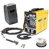 Wolf MIG130 Portable Turbo Mig Welder 230v DC No Gas Welding - Incs Mini...
