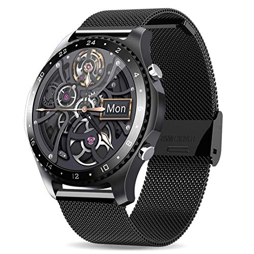 DOOK Reloj Inteligente con Oxímetro (SpO2) Smartwatch con Monitoreo De Frecuencia Cardíaca para Hombre Reloj Deportivo para Mujer Rastreador De Ejercicios para iPhone AndroidBlack