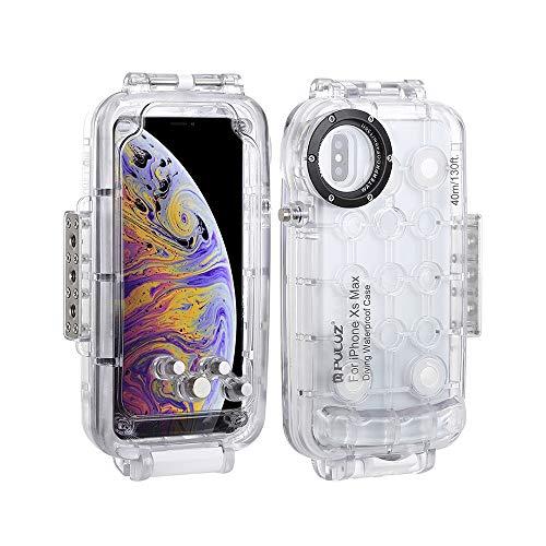 Fesjoy - Carcasa sumergible para smartphone (40 m, resistente a los golpes, 360°, compatible con iPhone XS Max/XR)