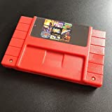 ASMGroup Save version 100 in 1 SuperMarioedworld/Final Fight/TMNT/Sonic/Megaman/top gear Game Cartridge 16 Bit 46 Game Card SNES For USA Version Game Player