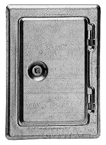 Set Kamintür verzinkt 12 x 18 cm, incl. Schnellzement, Spachtel und Vierkantschlüssel