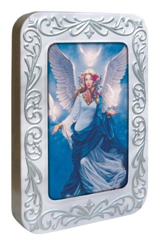 Tree-Free Greetings Noteables Notecards In Reusable Embossed Tin, 12 Card Assortment, Recycled, 4 x 6 Inches, Angel Flight, Multi Color (76037)