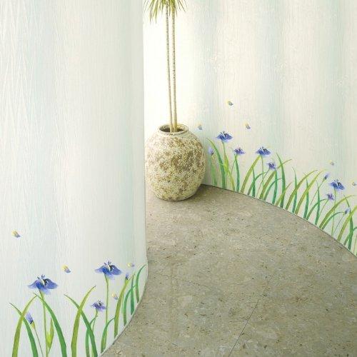 Stickers adhésifs Fleurs | Sticker Autocollant Fleurs Iris mauves - Décoration Murale Chambres et séjours | 60 x 33 cm