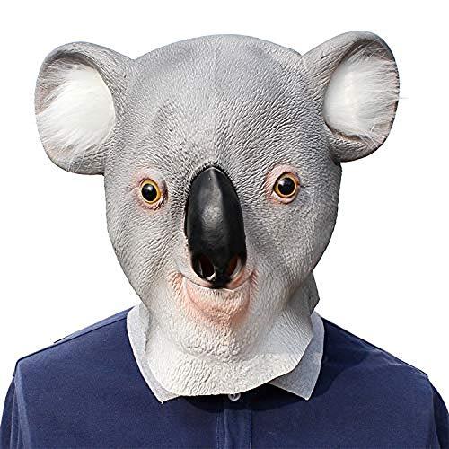 LZRDZSWCW Terrorist-Vollmaske, Halloween-Baumtaschenmaske, lustige Koalabärenkopf-Tierspielrequisiten, geeignet for alle Arten von Festivals Karnevalsmaske, gruselig