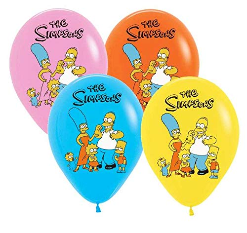 24PC Latex The Simpsons Balloons Party Supplies Decoration Theme Birthday A2