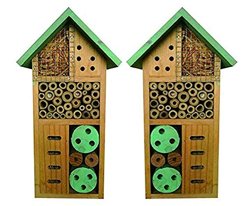 Heritage Fix On - Nido de Madera de bambú Natural para hoteles, Abejas, Jardines, Abejas, jardín, Mariposas, Mariquita, Mariquita, Hotel