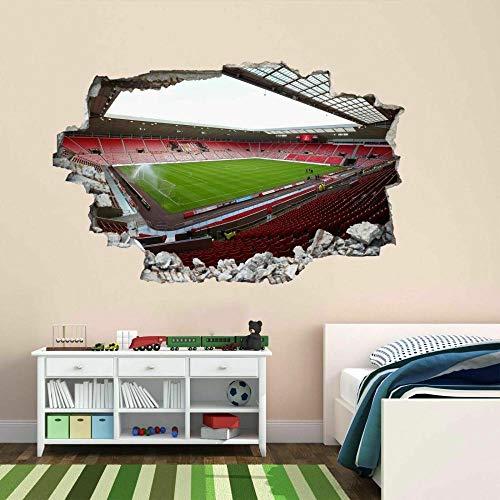 3D Wall Tattoo Floor Sticker Hole Creative Wall Sticker Football Stadium Sunderland 12x20inch(30x50cm) Bathroom Wall Sticker Fridge DIY Sticker