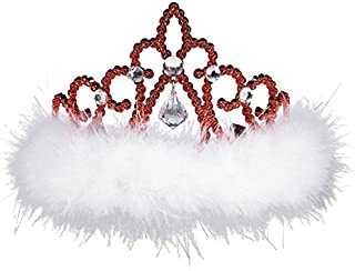 amscan Christmas Plastic Tiara with Marabou   Party Accessory