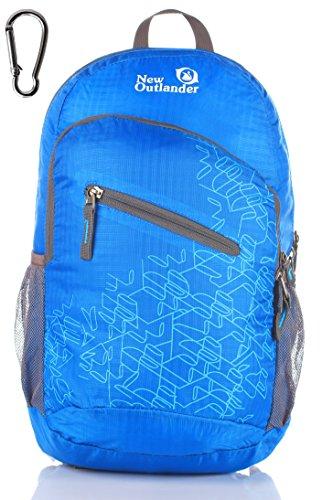 Outlander Packable Handy Lightweight Travel Hiking Backpack Daypack-Light Blue-L