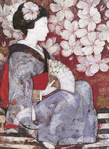 XIANRENGE 100% Puro Pintado A Mano Pintura Al Óleo De Japón Mujer Cuerpo Humano Abstracto Imagen De Arte Sala De Estar Decoración para El Hogar 40×60Cm