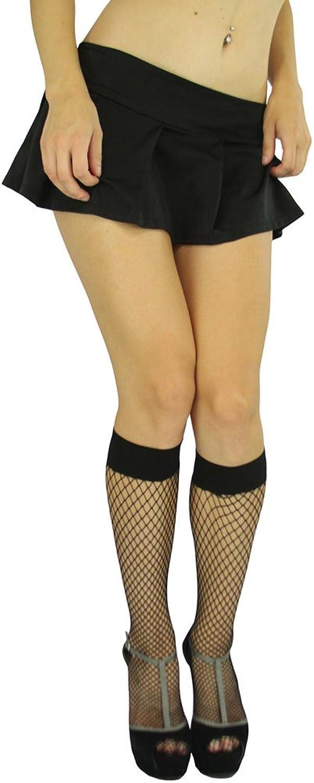 ToBeInStyle Women's Sheer Knee High Socks with Diamond Net Pattern Design