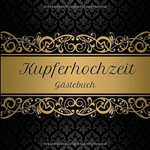 Kupferhochzeit Gästebuch: Motiv 1 | Zum Ausfüllen | Für bis zu 40 Gäste zur Hochzeitsfeier |...