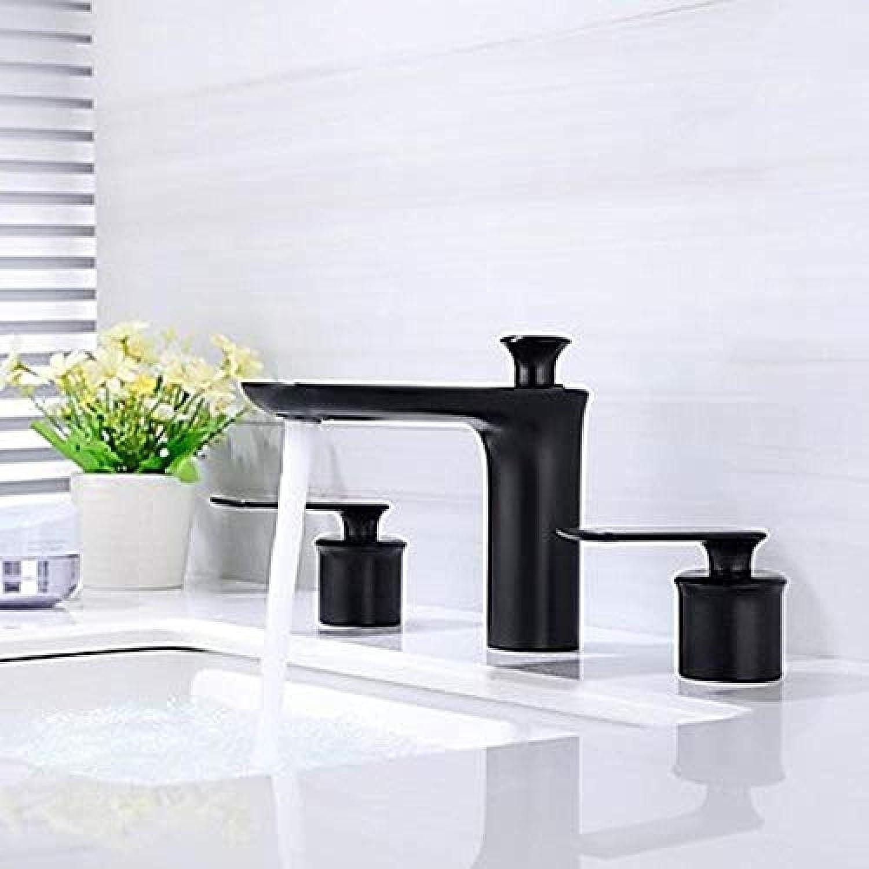 Wasserhahn-Badezimmer-Becken-Hahn gemaltes Ende Neues und gerumiges Design Zwei Handgriffe brachte Plattform drei Loch-Hahn an