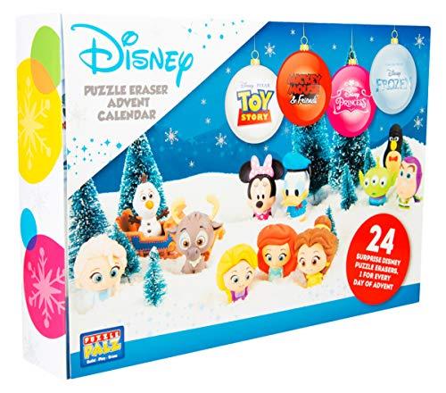 Sambro DIS-6975 Calendrier de l'Avent Puzzle Palz Gomme Disney Frozen Princess Toy Story et Beaucoup d'autres Enfants à partir de 3 Ans Multicolore