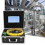 cavo in fibra di vetro flessibile Sistema di ispezione dei tubi Videocamera di ispezione dei tubi(European standard 220V)