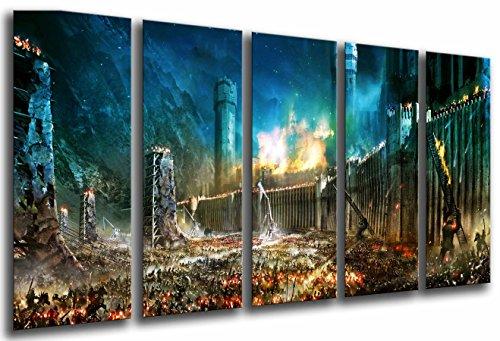 Cuadro Fotográfico El Señor De Los Anillos, La Batalla por la Tierra Media Tamaño total: 165 x 62 cm XXL, Multicolor
