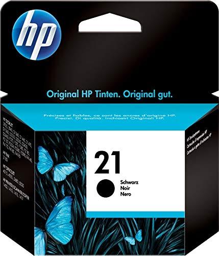 HP 21 C9351AE Cartuccia Originale, da 190 Pagine, Compatibile con Stampanti HP Deskjet D1530, D1560, D2360, D2460, F2290, F335, F2180, F380, F390, F4180 e HP Officejet 4315, 4335, Nero