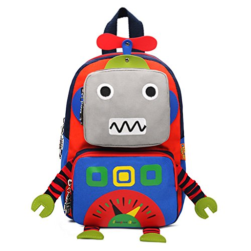 Zaino per bambini - 3D Cartoon Robot Bambini Zaini Bambini Scuola materna Carino Borse da viaggio Zaino Outdoor Casual Daypack