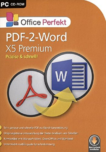Office Perfekt PDF-2-Word X5 Pemium [import allemand]