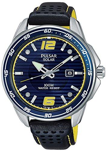 Pulsar Herren Analog Quarz Uhr mit Kautschuk Armband PX3091X1