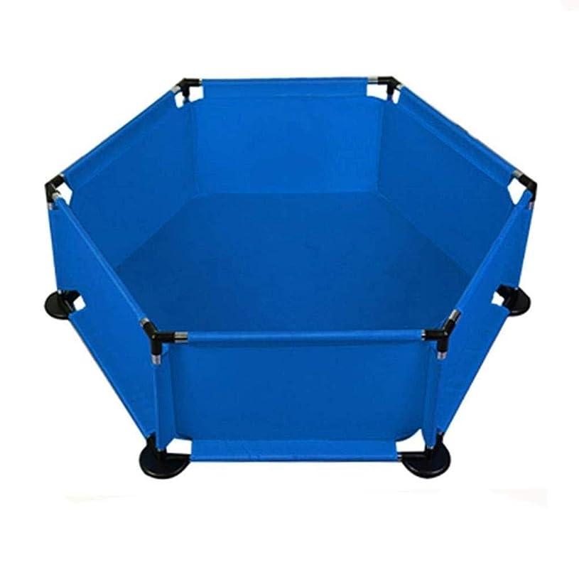 パネルベビーベビーペンデザインペットフェンス、部屋の仕切りのための複数の使用 (Color : 青)