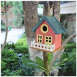 YXYLD Bird Feeder, Wild Hanging Feeding Station Wooden Waterproof For Villa/Garden/Outdoor/Bird Nest Ornament/Decor