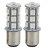 2 Stroboscopi Lampade Strobo Luce Freno 18 LED SMD5050 Rosso per Auto