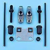 Juego de placas de guía de varilla de empuje de balancín de válvula compatible con Honda GX160 GX200 5.5HP 6.5HP Generador de motor Bomba de agua Trimmer Desbrozadora