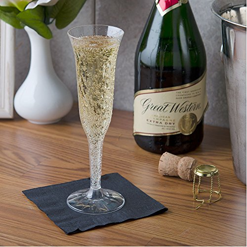 Fineline Settings Flairware Clear 5 oz. Two-Piece Champagne Flute, 100 Flutes