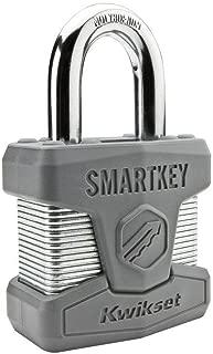 Kwikset 026SMTSTD SHKL PDL Stanley SmartKey Padlock Standard Shackle, 50mm, Satin Chrome