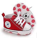 Zapatillas de Lona Estilo Urbano con Suela Blanda Antideslizante Primeros Pasos para Bebés de 6 a 12 Meses