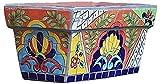 WANIYA1 Pottyard jardín al aire libre macetas Mosaico Mármol de tinta de mármol Patrón de cerámica Flor de cerámica Bonsai Planter Pintado a mano Potación a mano Pote de color Pot Suculents Contenedor