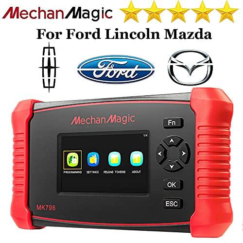 Autek Auto Key Fob Programming Tool MK798 for Ford Mazda Lincoln OBD2 Key Programmer Pin Code Reader for Locksmith red Medium