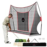 FRANKTECH Golf Hitting Net Heavy Duty Golf Practice Net for Backyard Driving Golf Net with High Impact Chipping Hitting Target Golf Driving Practice Net Include Carry Bag Golf Balls for Indoor Outdoor
