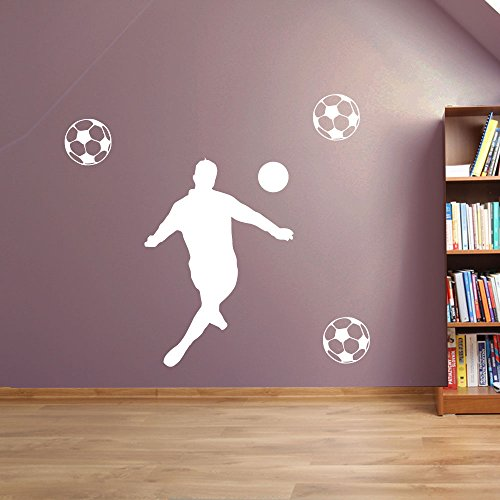 Football, Footy 03 fenêtre de décoration murale Stickers Décoration murale Stickers muraux Décoration murale Stickers muraux Stickers Autocollant mural Stickers panoramique Décor DIY Deco amovible Stickers muraux colorés stickers