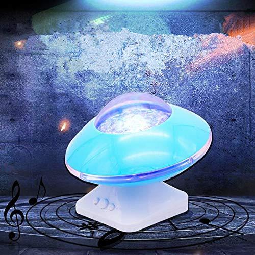 RTYU Ahorro de energiaCreativa Aurora Boreal Starlight Proyección Ondas Coloridas proyector LED Océano proyección de luz, Azul