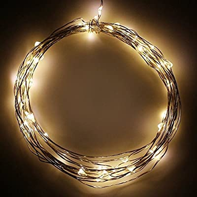 Battery Powered 20ft/10ft Fairy LED String Lights, Novelty Starry Lights with Timer Mode, Flexible Copper Wire for Festival, Holiday, Christmas,Wedding & Party, Waterproof