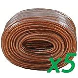 Get Raptor CK-SWFT Transparent 18 Gauge 18/2 20ft Speaker Wire for Car Audio(5 Pack) Just for $12.70