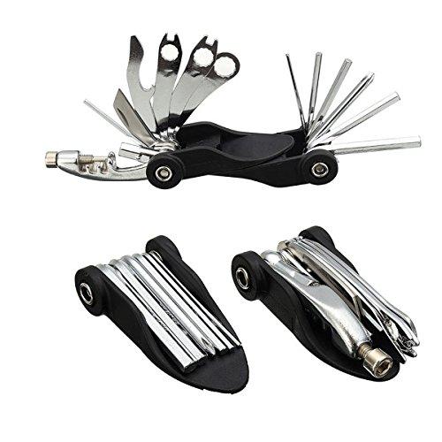 MXBIN 17 en 1 herramienta de reparación de bicicletas Juego de llaves...
