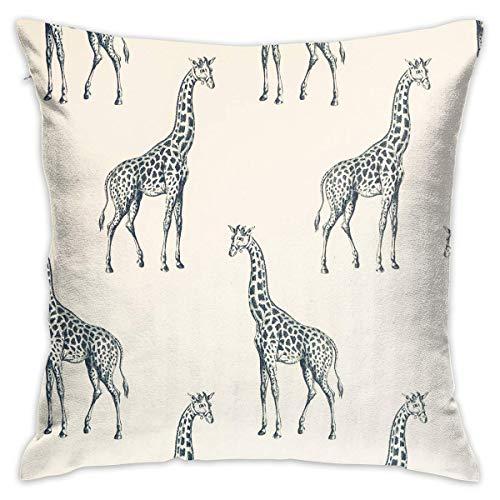 N\A Decorative Pillow Cover Sketch Giraffe Pillowcase Cushion Cover and Decorative Home Throw Pillow Home Room Decor Gift