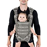 Mission Critical | S.01 Action Baby Carrier | Baby Gear for Dads | Front Carrier | Gray