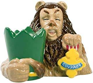 Westland Giftware The Wizard of Oz Magnetic Cowardly Lion and Courage Badge Salt and Pepper Shaker Set, 3-1/4-Inch