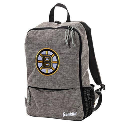 Franklin Sports Boston Bruins Street Pack Backpack - Official NHL Hockey Equipment Bags - Gray Hockey Backpack - Authentic Logos and Colors