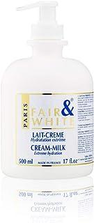 Fair & White Original Cream-Milk with Pump, Hydroquinone-Free, Anti-Oxidant - Extreme Hydration, 500ml / 17fl.oz.