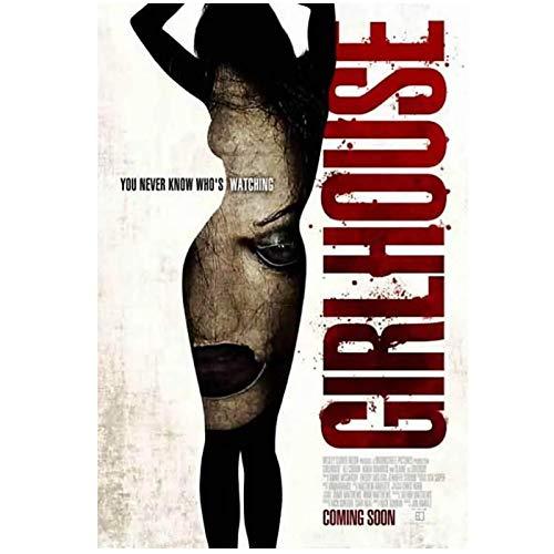 KONGQTE Elle Cobrin Darstellerin Girlhouse (2014) Horror Filmcover Leinwandmalerei Kunstplakatdruck Hauptdekoration -50x70cm Kein Rahmen