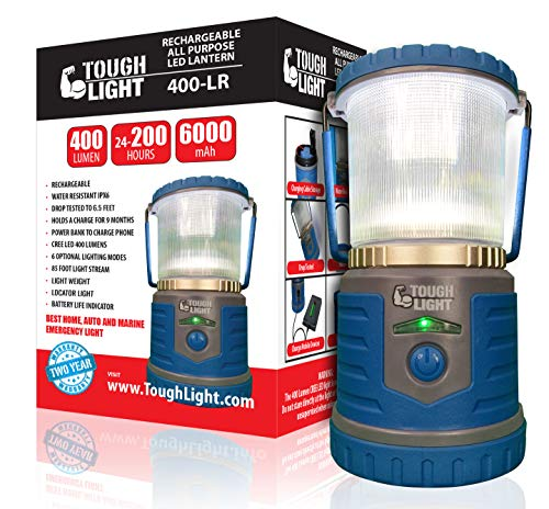 Tough Light LED Rechargeable Lantern - 200 Hours of Light Plus a Phone Charger for Hurricane,...
