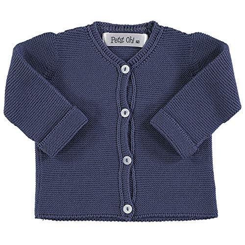 Petit Oh! - Chaqueta de Punto para bebé algodón 100% Talla Recién...