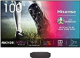 Hisense 100L5F - Laser Smart TV 100', resolución 4K UHD, HDR10, VIDAA U 4.0, PureColor, Dolby Atmos, Certificado Low Blue Light + Panel 100' para Laser TV 100L5F, con Alexa integrada