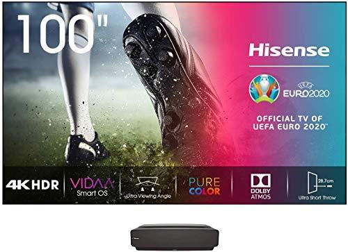 "Hisense 100L5F - Laser Smart TV 100"", resolución 4K UHD, HDR10, VIDAA U 4.0, PureColor, Dolby Atmos, Certificado Low Blue Light + Panel 100"" para Laser TV 100L5F"